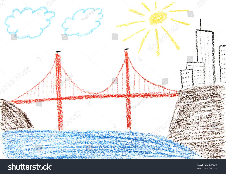Kids Drawing Golden Gate Bridge