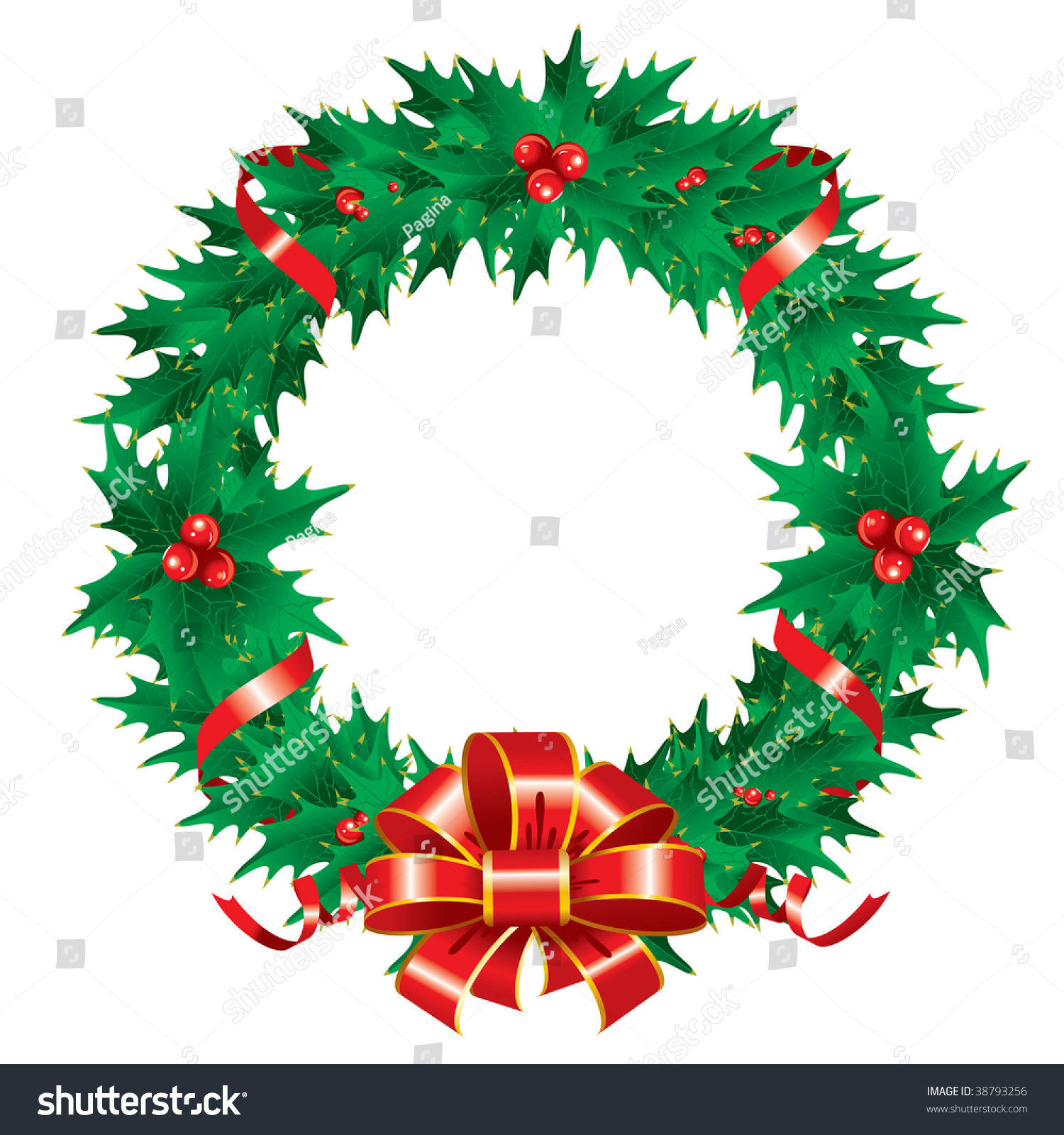 Rustic Christmas Wreath Vector – yvqg