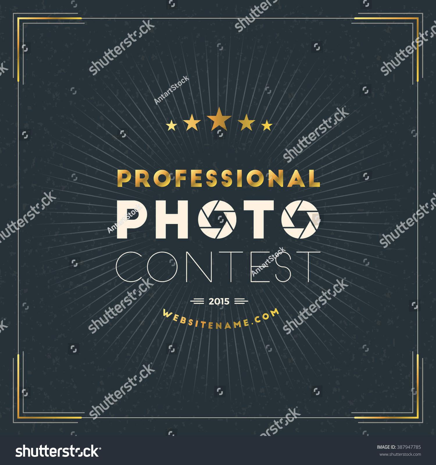 Photography Logo Design Template Photography Retro Stock Vector