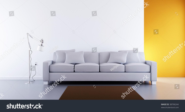 Modern design white couches set