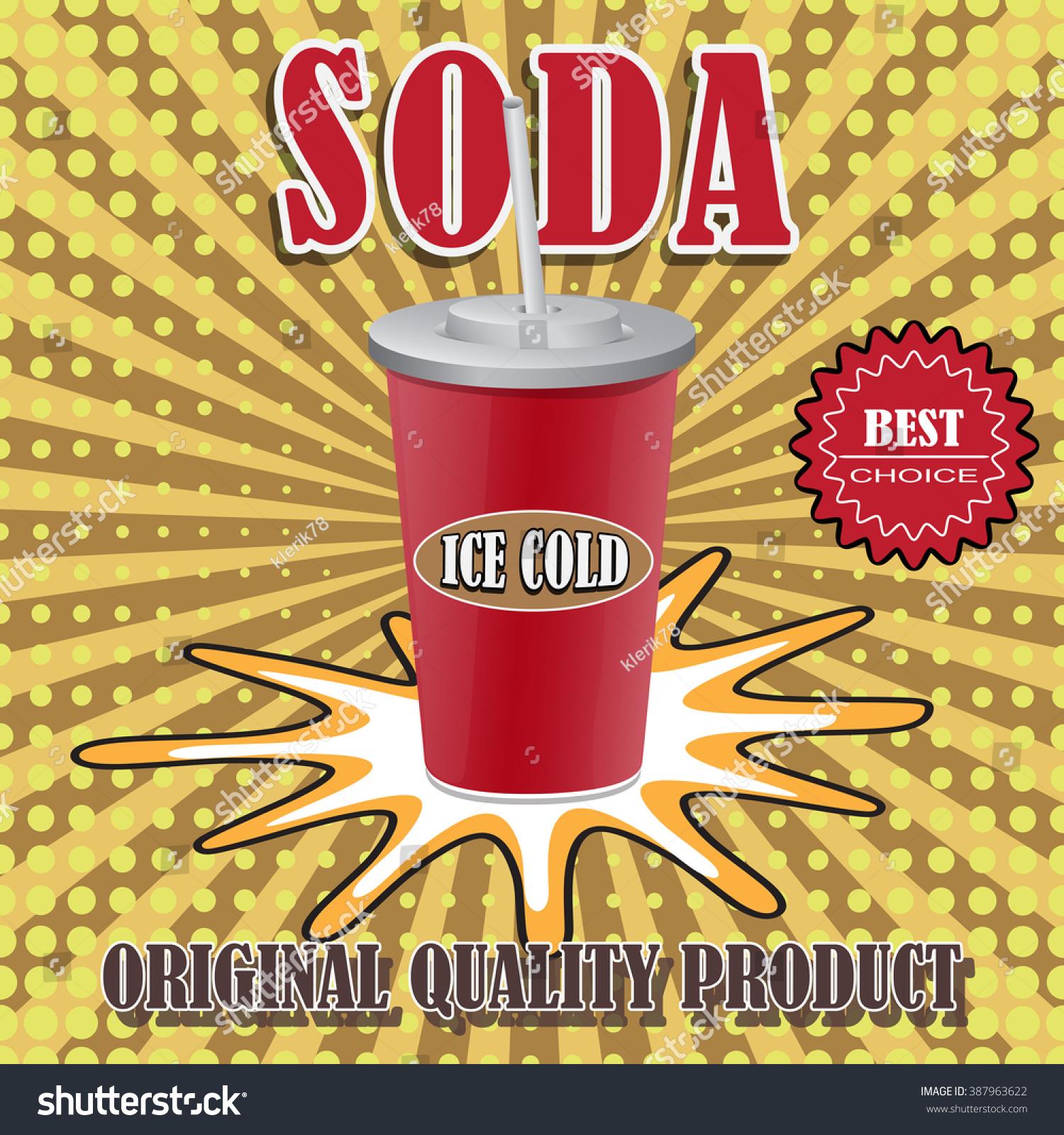 Grunge Vintage Drinks Beverage Poster Illustration Stock Vector ...