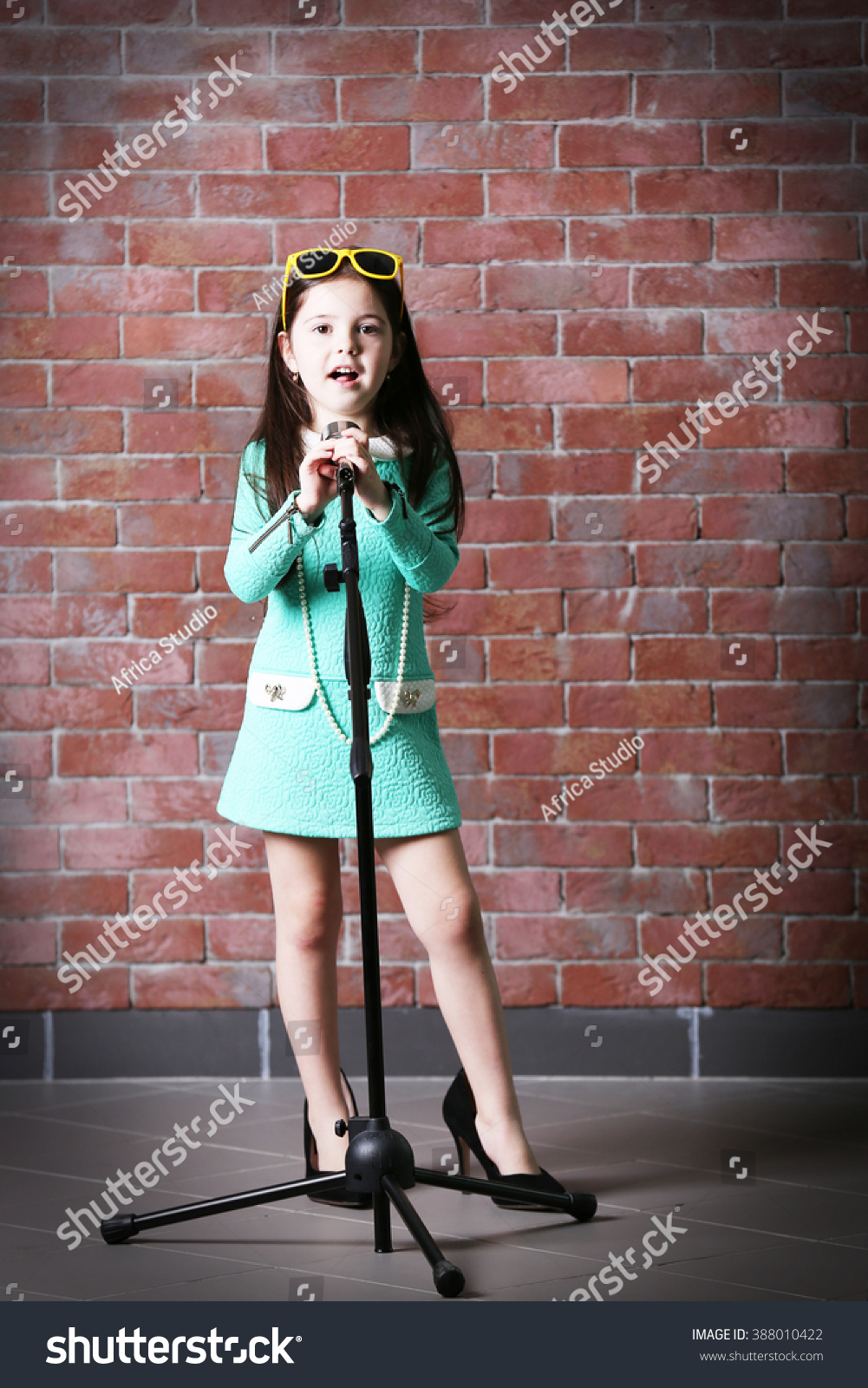 8c36401b970 Beautiful Little Girl Dress Mothers Heels Stock Photo (Edit Now ...
