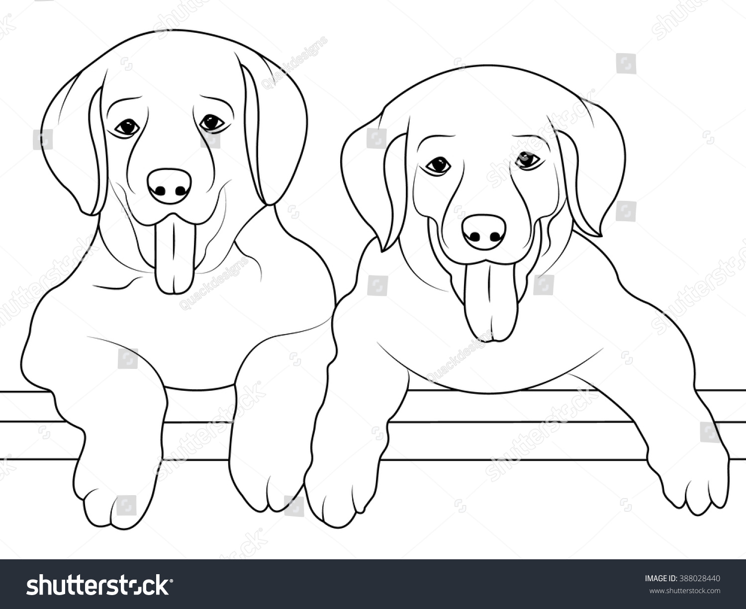 dog coloring page children coloring book stock vector 388028440