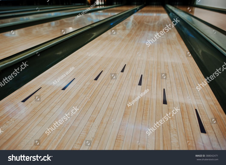Bowling Wooden Floor Lane Stock Photo 388042471 Shutterstock
