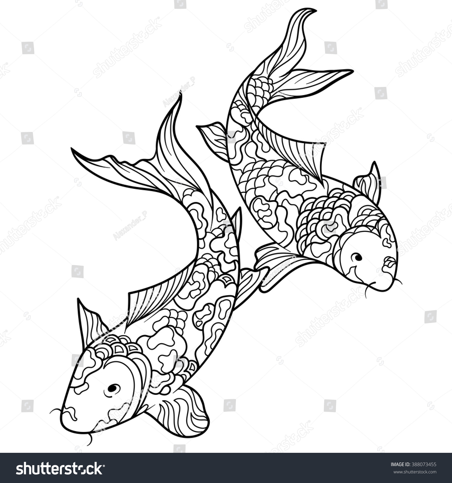 Koi Fish Coloring Page Colouring Pages Of Koi Fish Bass