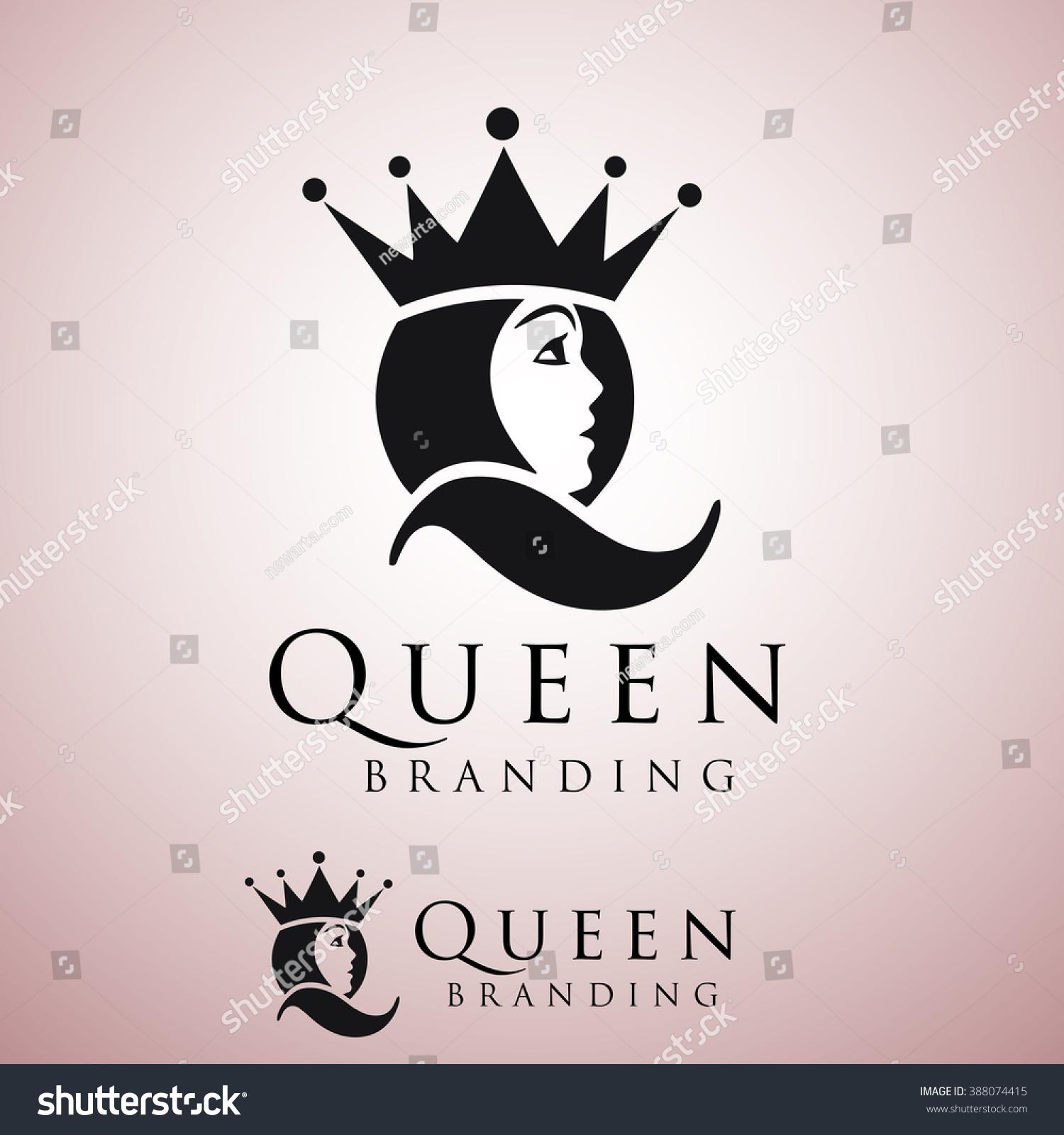 queen logo stock vector 388074415 shutterstock