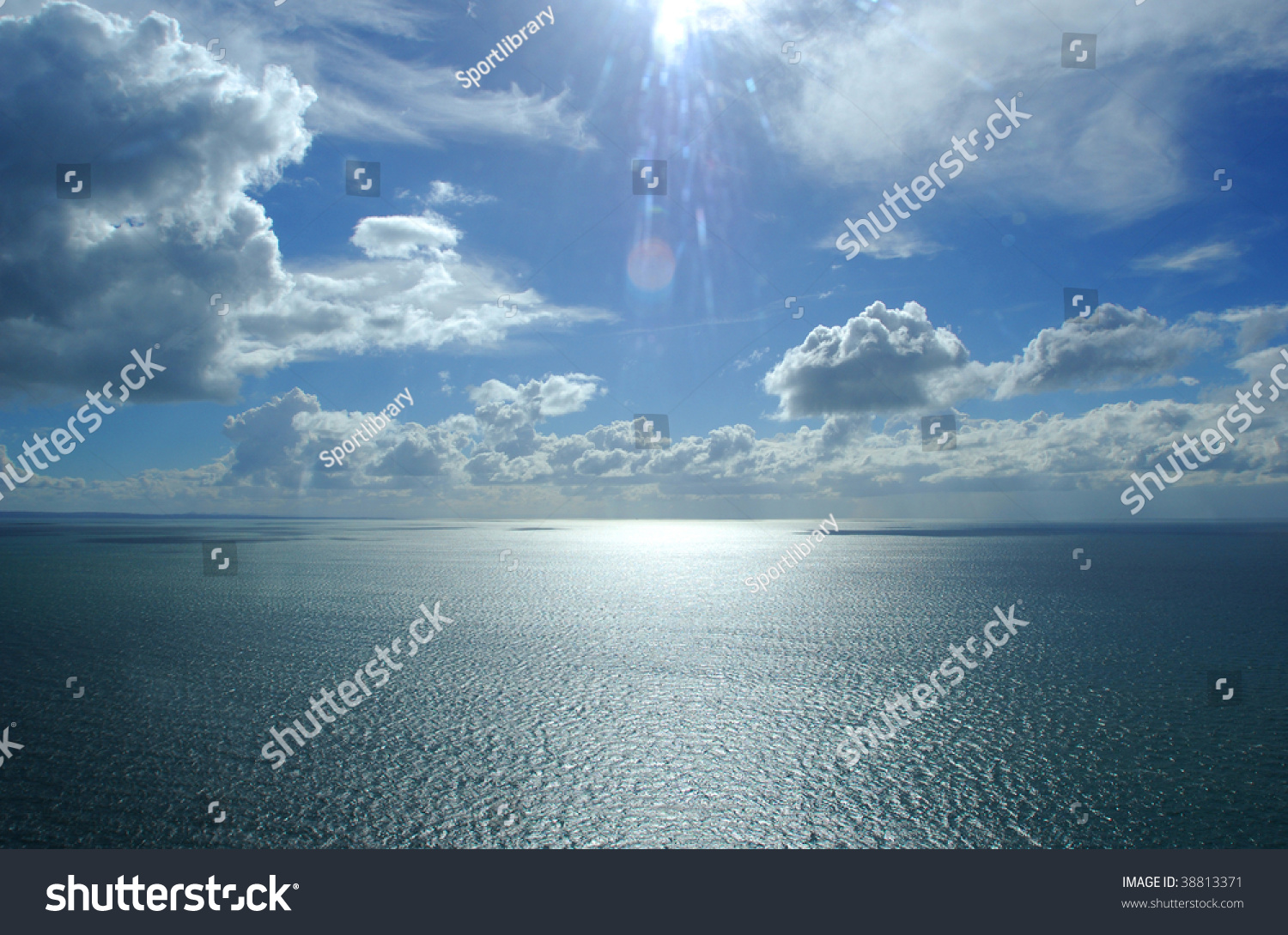 Aerial Photograph Helicopter Over Body Water Stock Photo ...