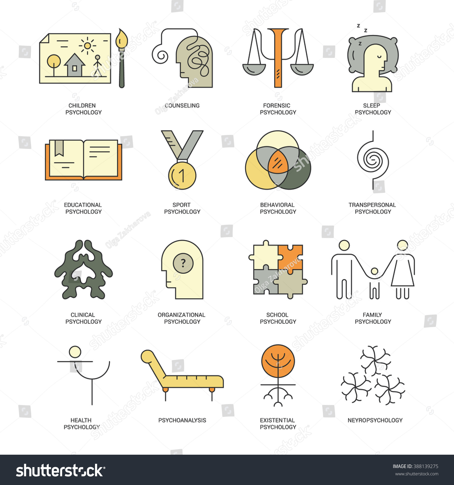 Therapist Counseling Process Symbols Modern Pictogramm Stock Vector