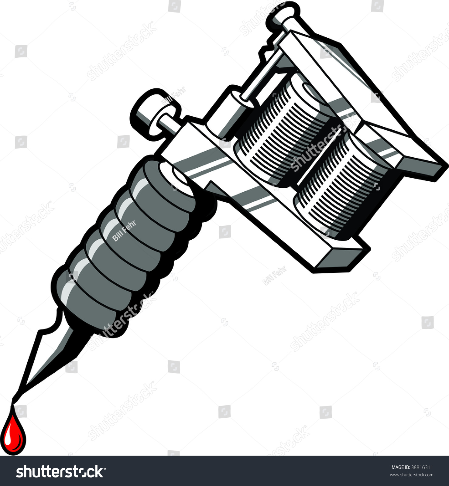 tattoo machine used by tattoo artists stock vector 38816311 rh shutterstock com tattoo machine vector free tattoo machine vector art