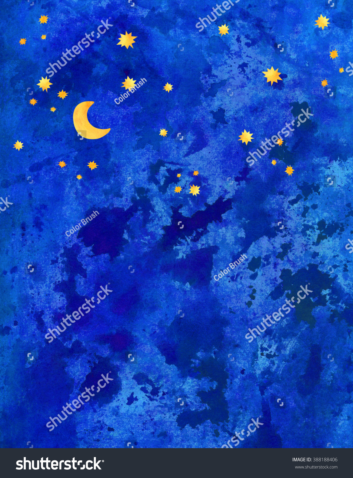 watercolor blue dark night sky background stock illustration 388188406 shutterstock. Black Bedroom Furniture Sets. Home Design Ideas