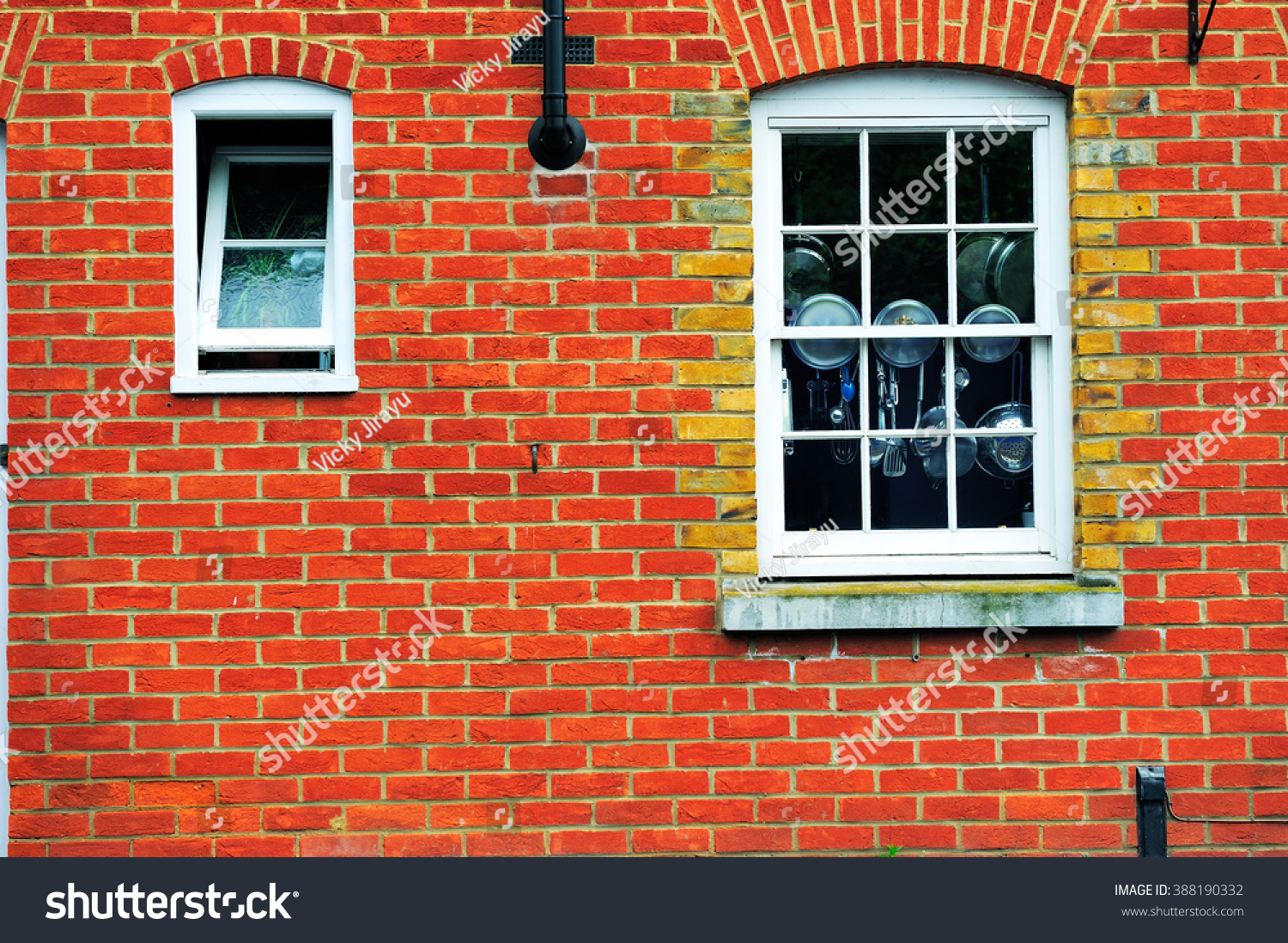 Old Brick Wall Arch Window Kitchen Stock Photo Edit Now 388190332