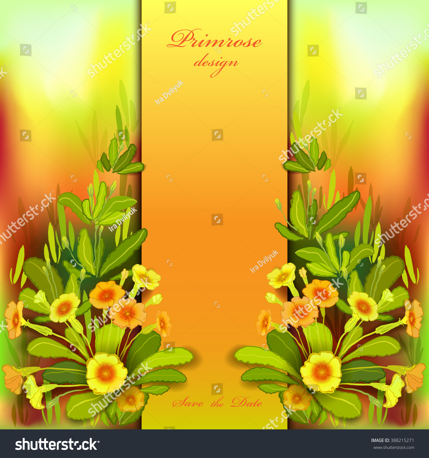 Spring Summer Flowers Floral Background Vertical Stock Vector
