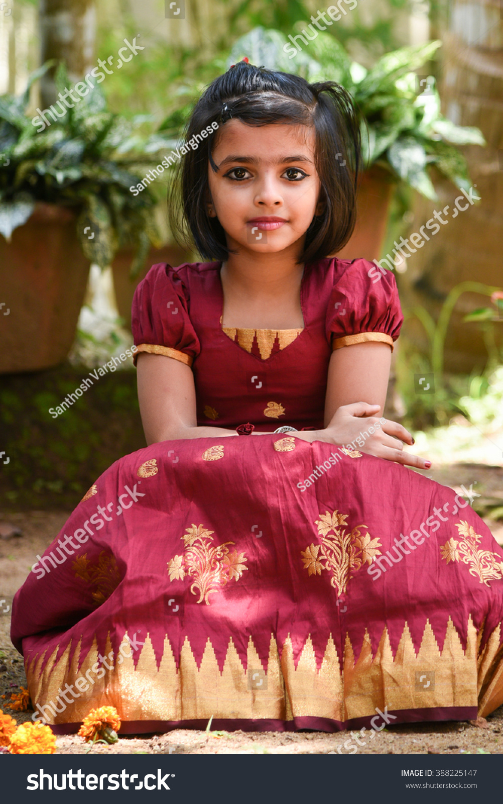 young indian girl child kids wearing stock photo (edit now