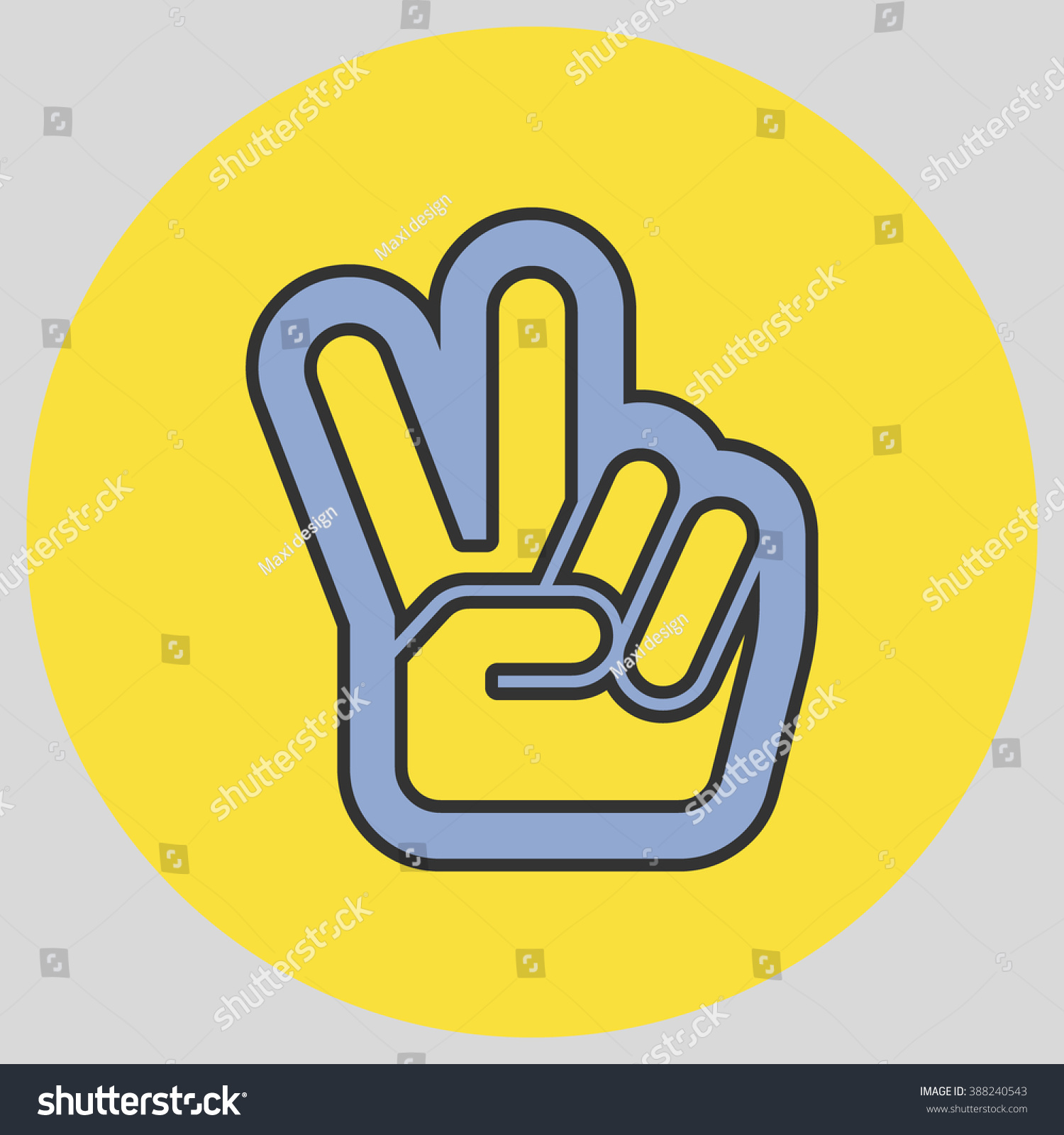 Hand two fingers peace victory symbol stock vector 388240543 hand with two fingers up in the peace or victory symbol vector peace sign biocorpaavc Gallery