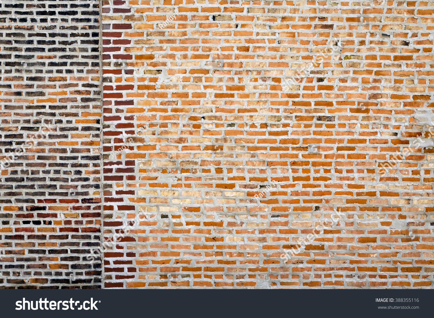 old exterior brick wall different types stock photo 388355116