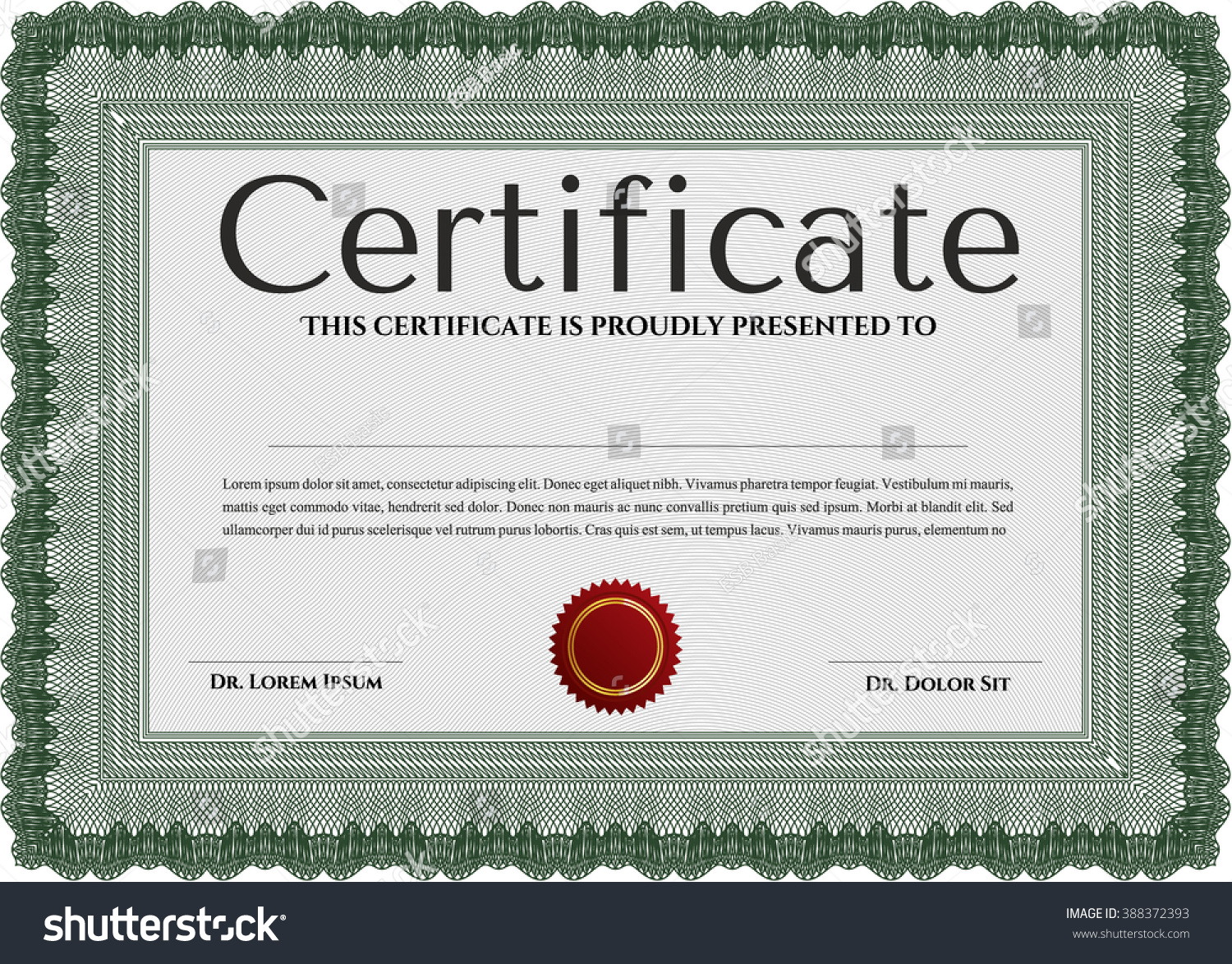 Green sample diploma linear background modern stock vector green sample diploma with linear background modern design frame certificate template vector yelopaper Images