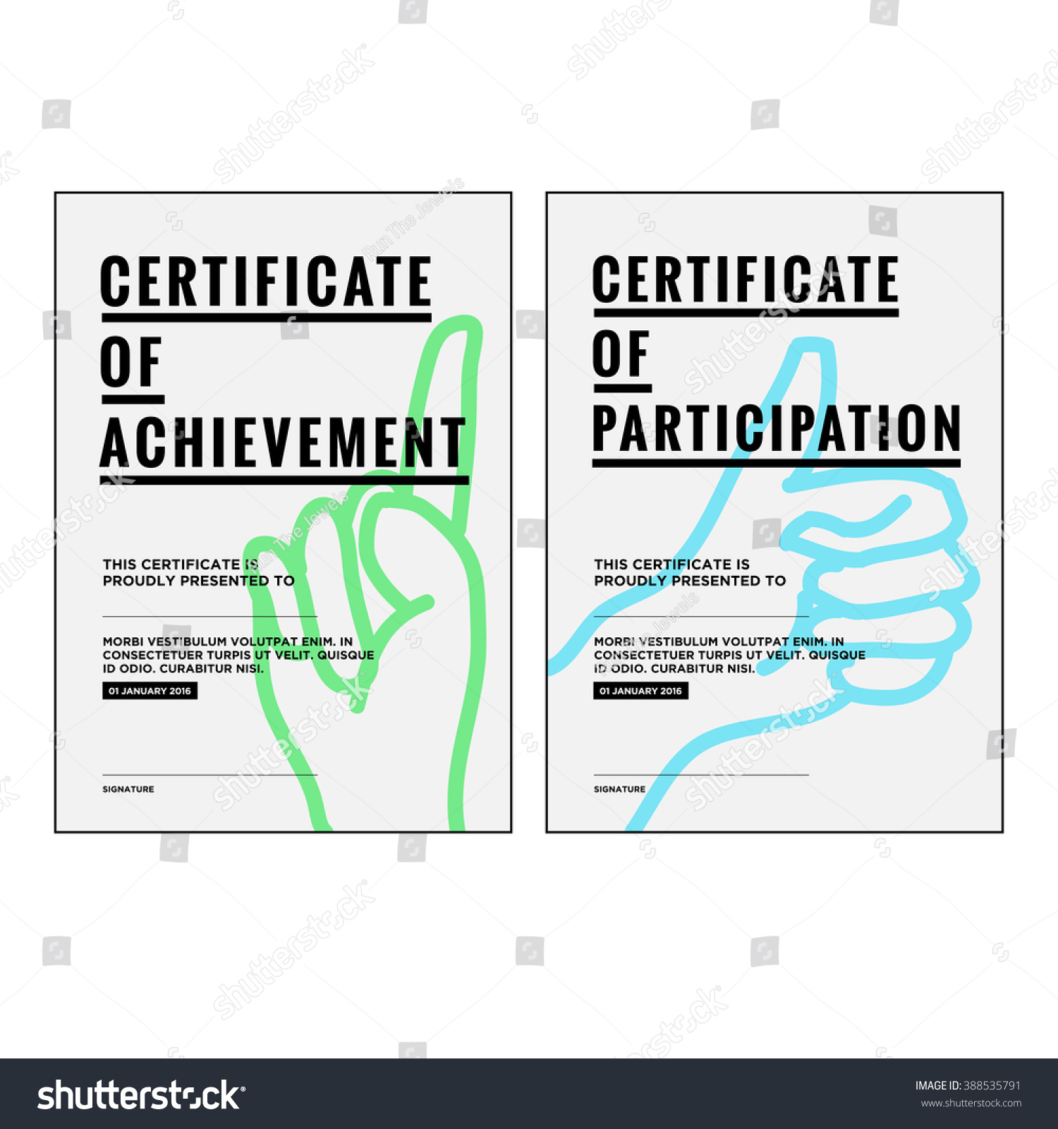 stock vector award certificate concept template 388535791 Top Result 60 New Life Saving Award Certificate Template
