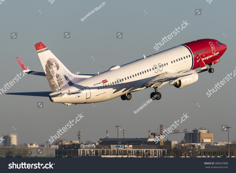 Aeroporto Waw : Warsaw poland december 29 norwegian air stock photo royalty free