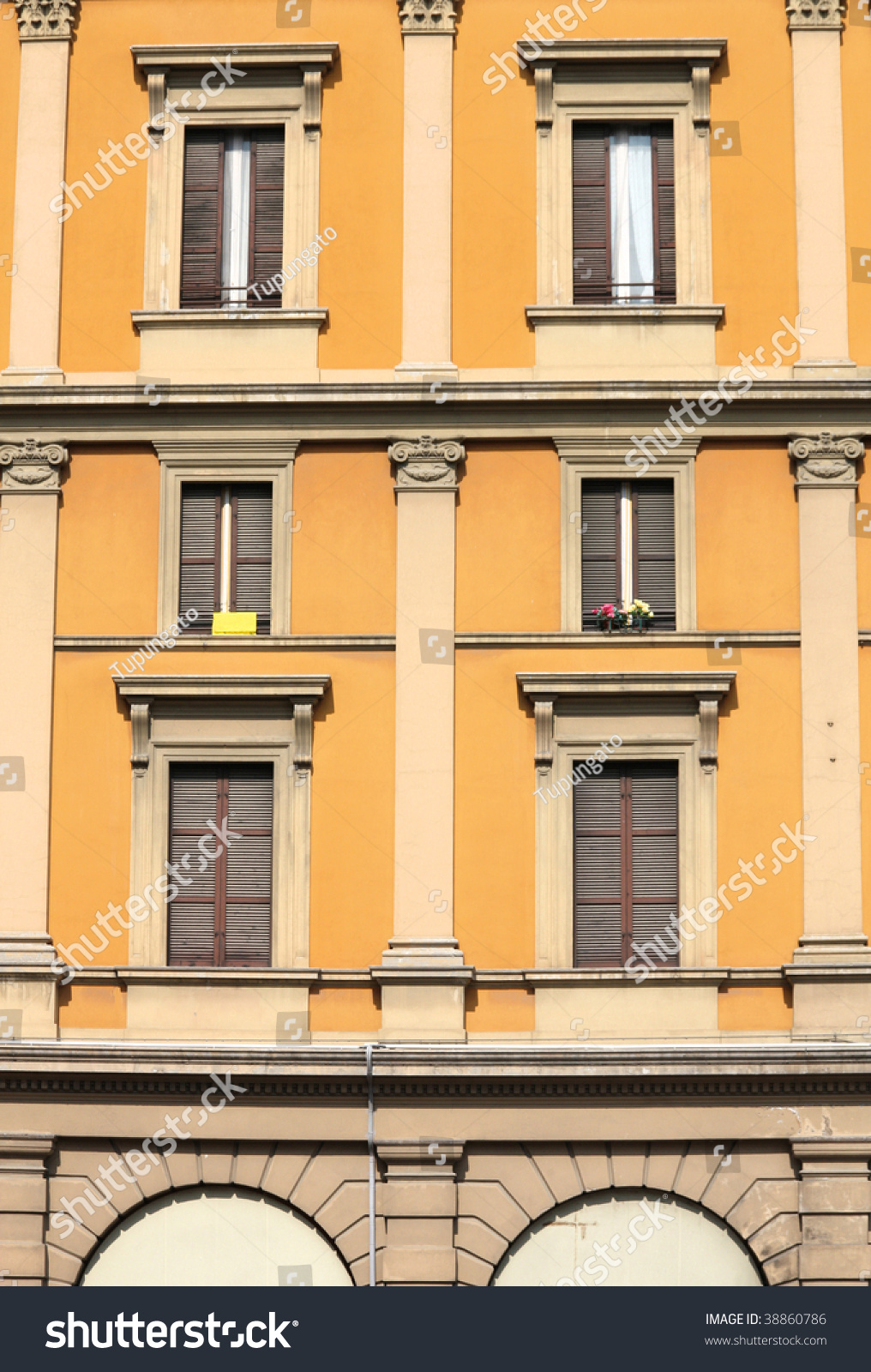 apartment facade architecture stock photo old residential