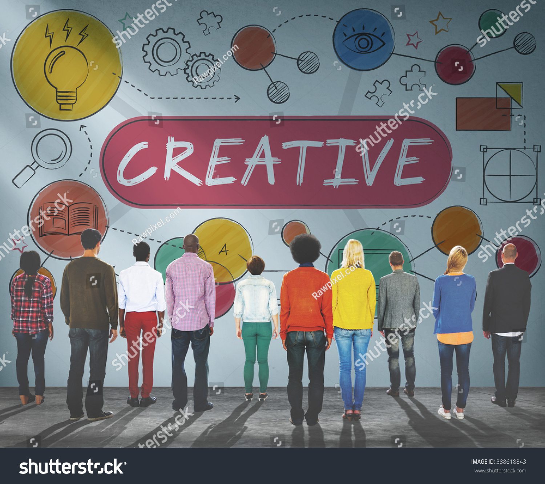 Creative Innovation Ideas Process Drawing Concept Stock Photo Edit