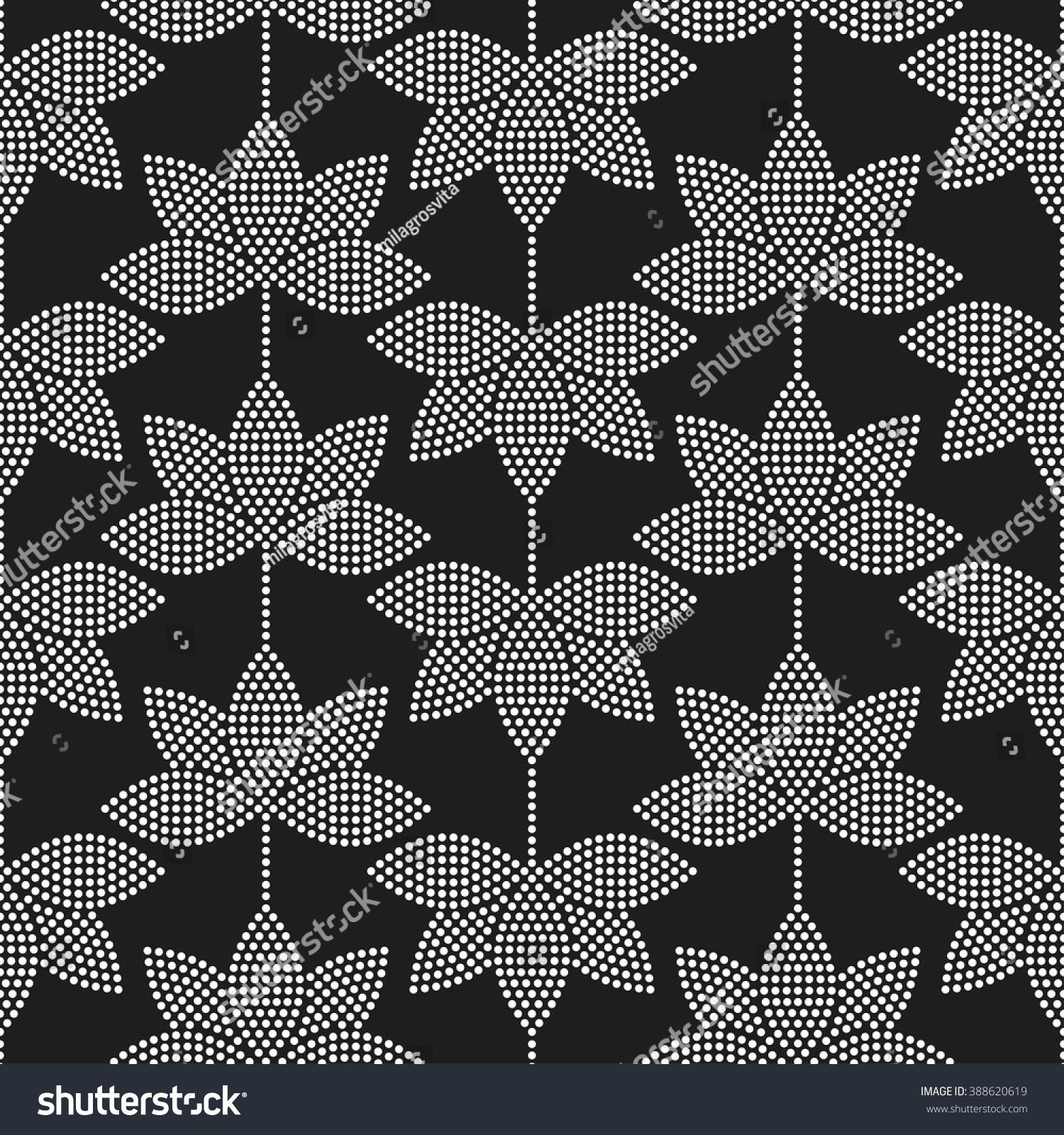 Seamless Tiled Black White Mosaic Background Stock Vector Royalty