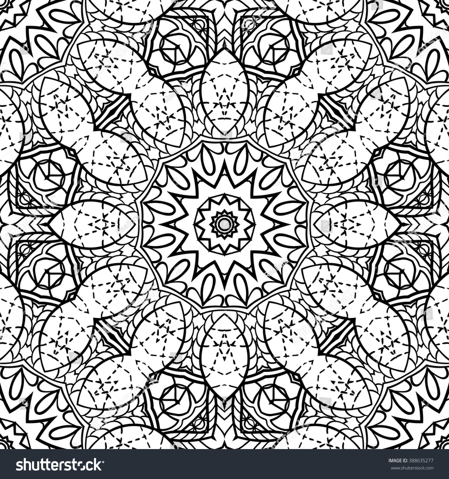 Zendoodle Coloring Pages Adult Coloring Page Semless Zendoodle Vector Stock Vector