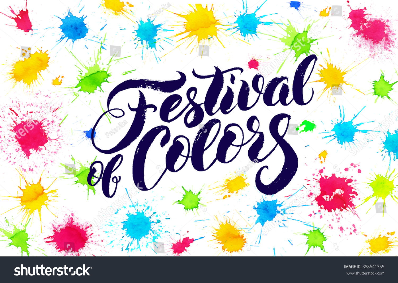 Royalty Free Indian Festival Happy Holi Holi Vector 388641355