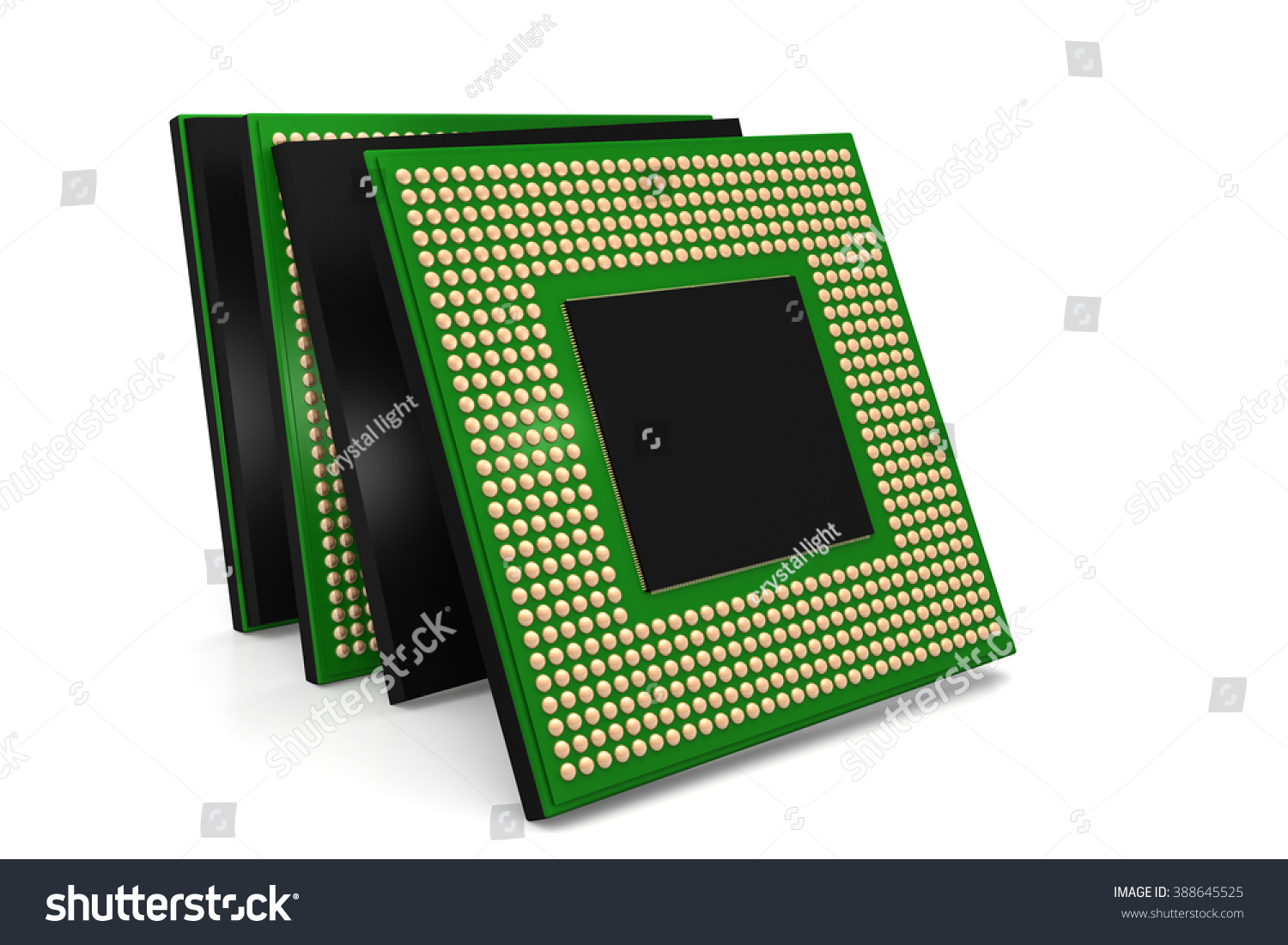 Royalty Free Stock Illustration Of Electronic Integrated Circuit Circuits Crystals Chip