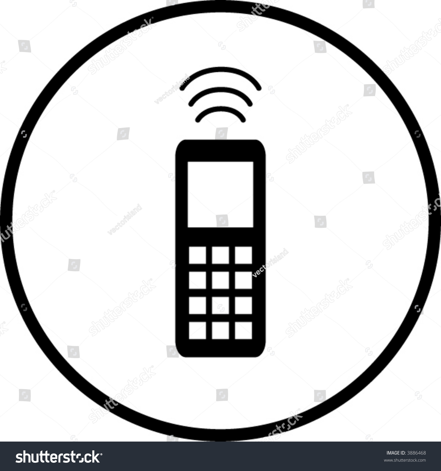 Cell phone symbol stock vector 3886468 shutterstock cell phone symbol biocorpaavc