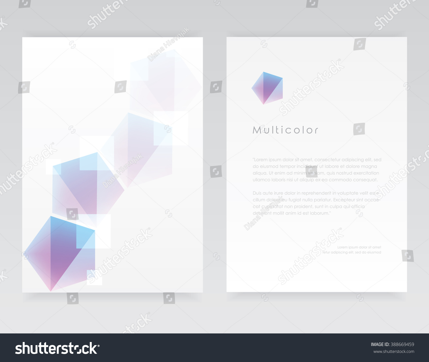 Clean Minimal Design Company Letterhead Template Stock Vector