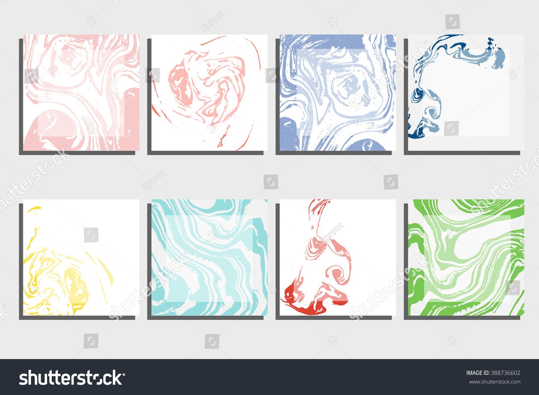 Abstract Creative Card Templates Weddings Menu Stock Vector ...