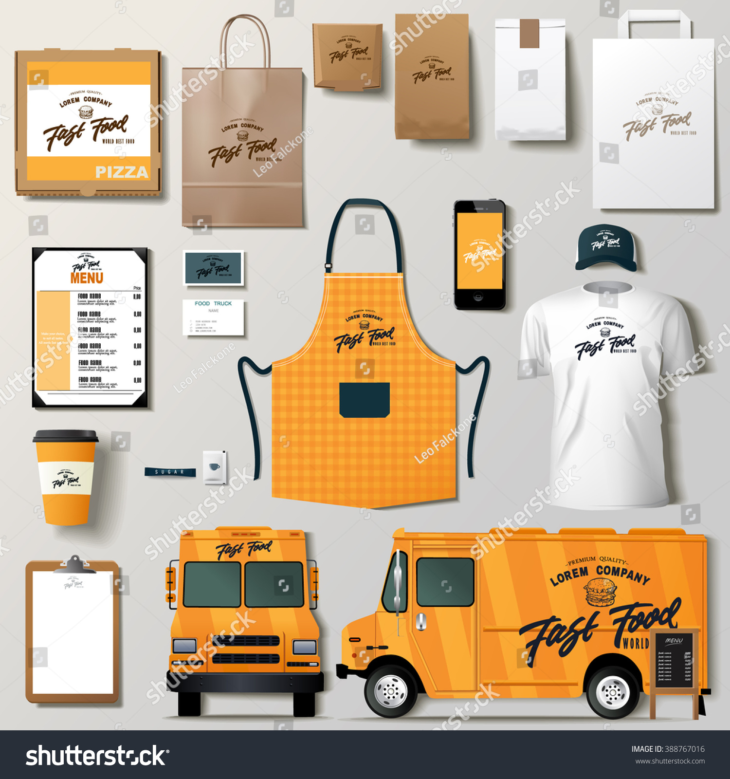 Vector Food Truck Corporate Identity Template Stock Vector Royalty