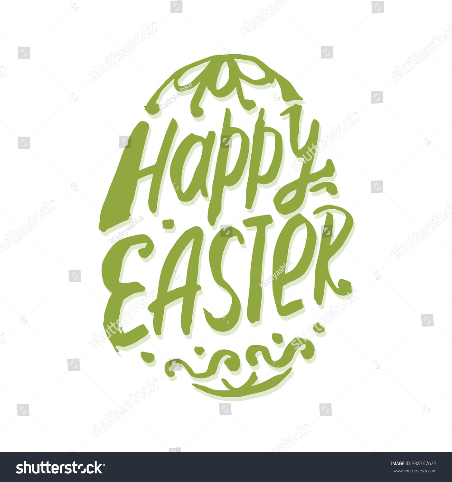 Happy easter calligraphy stock vector illustration