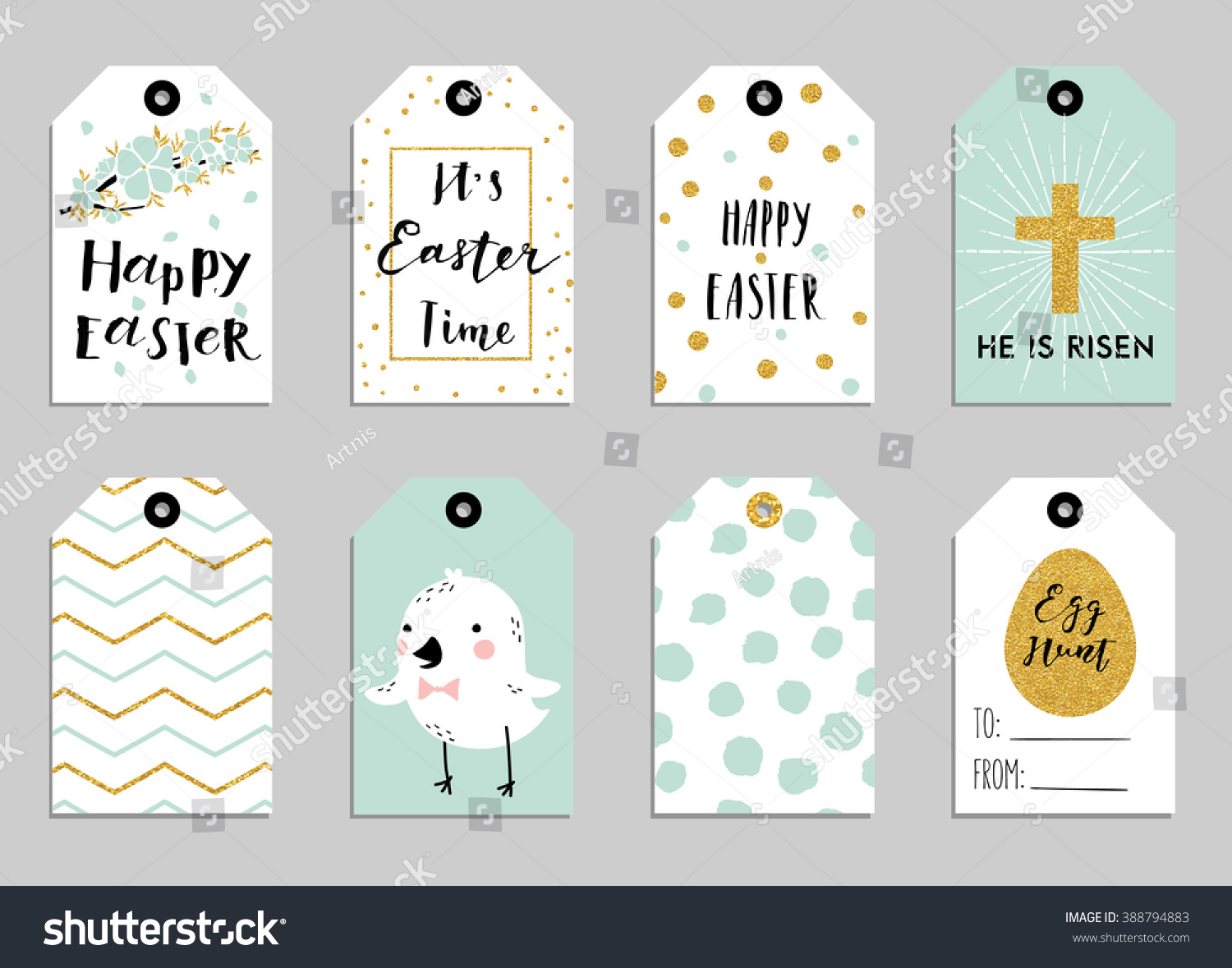 Easter gift tags cute easter bunny stock vector 388794883 easter gift tags with cute easter bunny watering can with flowers and easter greetings negle Image collections