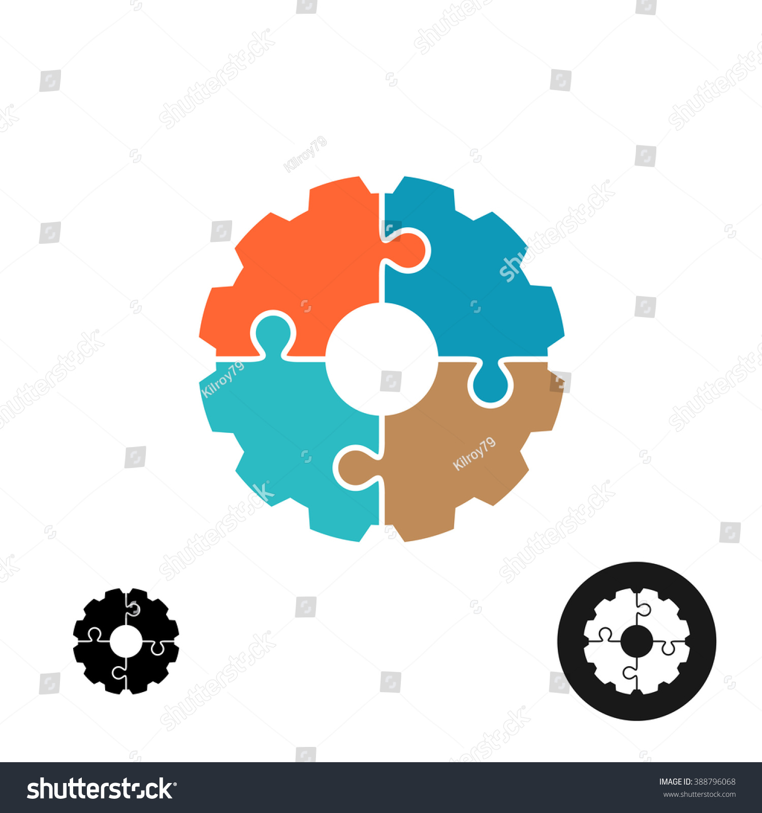 Gear Shape Puzzle Logo Infographic Base Stock Vector HD (Royalty ...