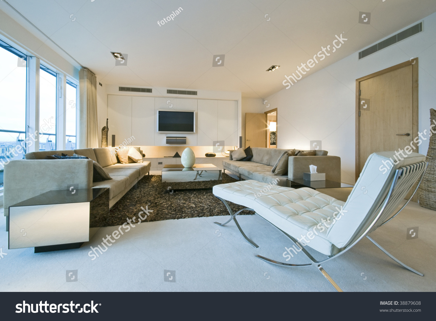 Modern Luxury Living Room With Designer Furniture Stock Photo 38879608 Shut
