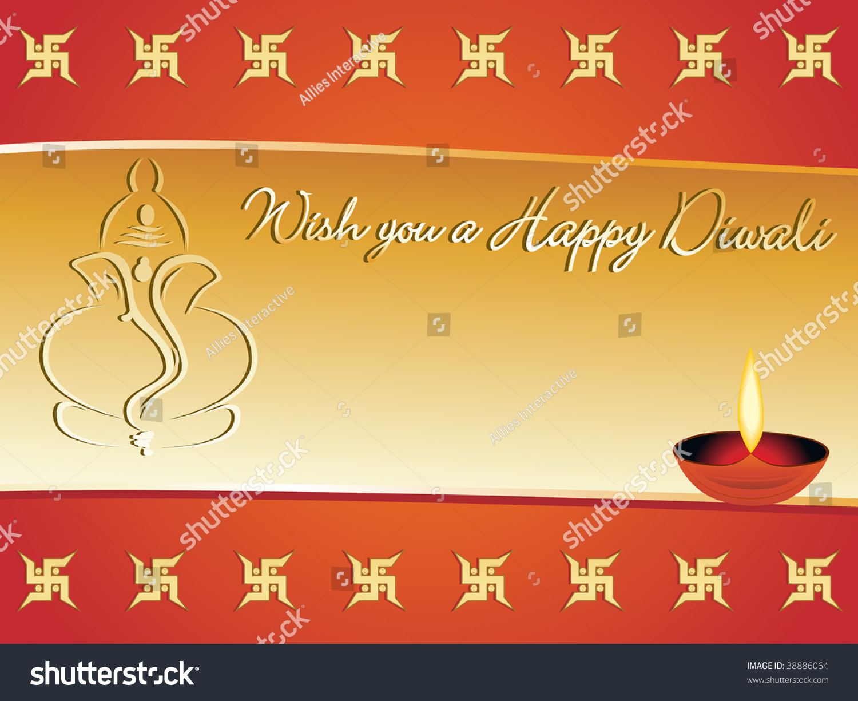 Wish you happy diwali greeting card stock vector 38886064 shutterstock wish you a happy diwali greeting card vector illustration kristyandbryce Images