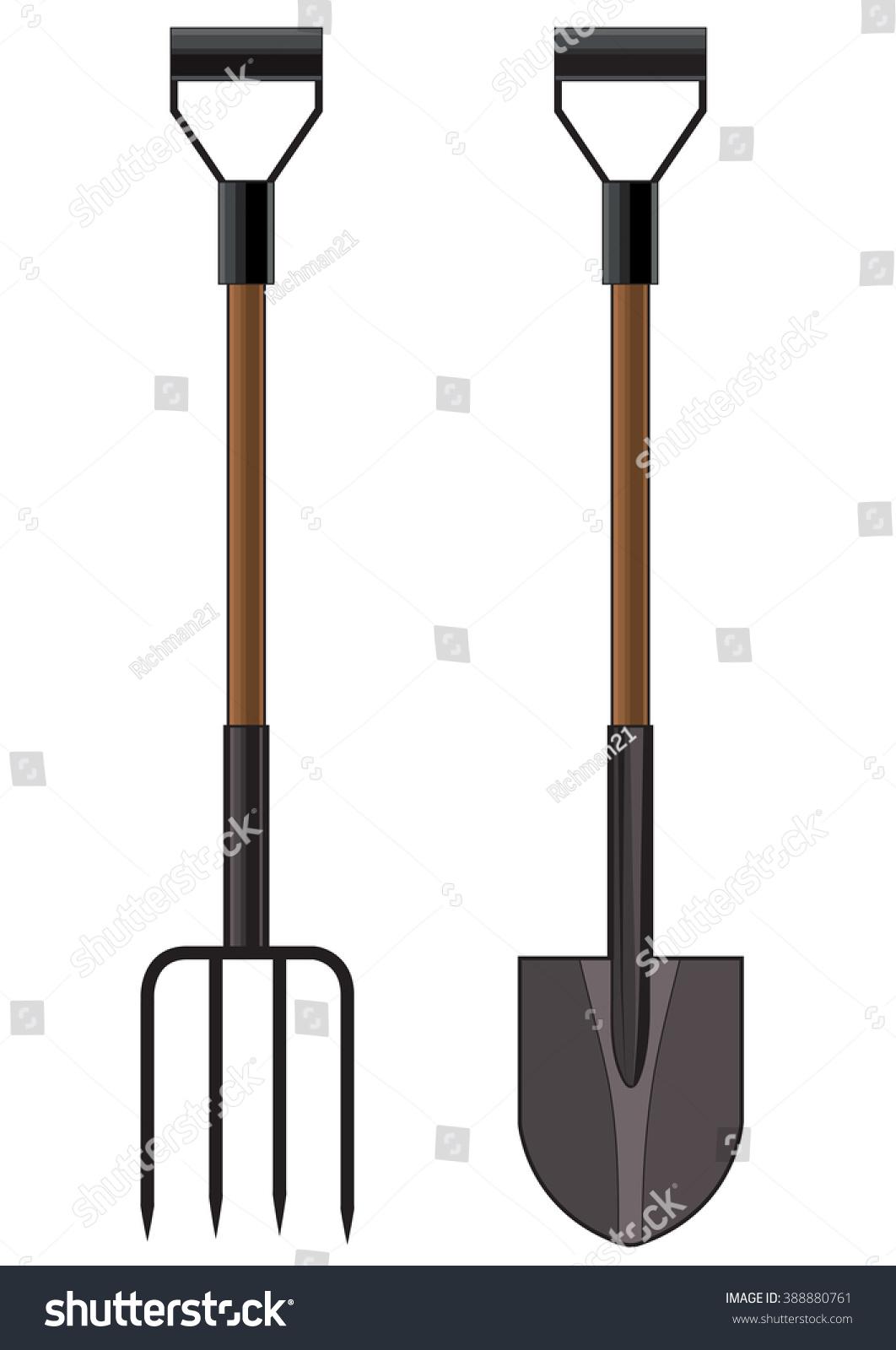 Garden Pitchfork A And Shovel To Design