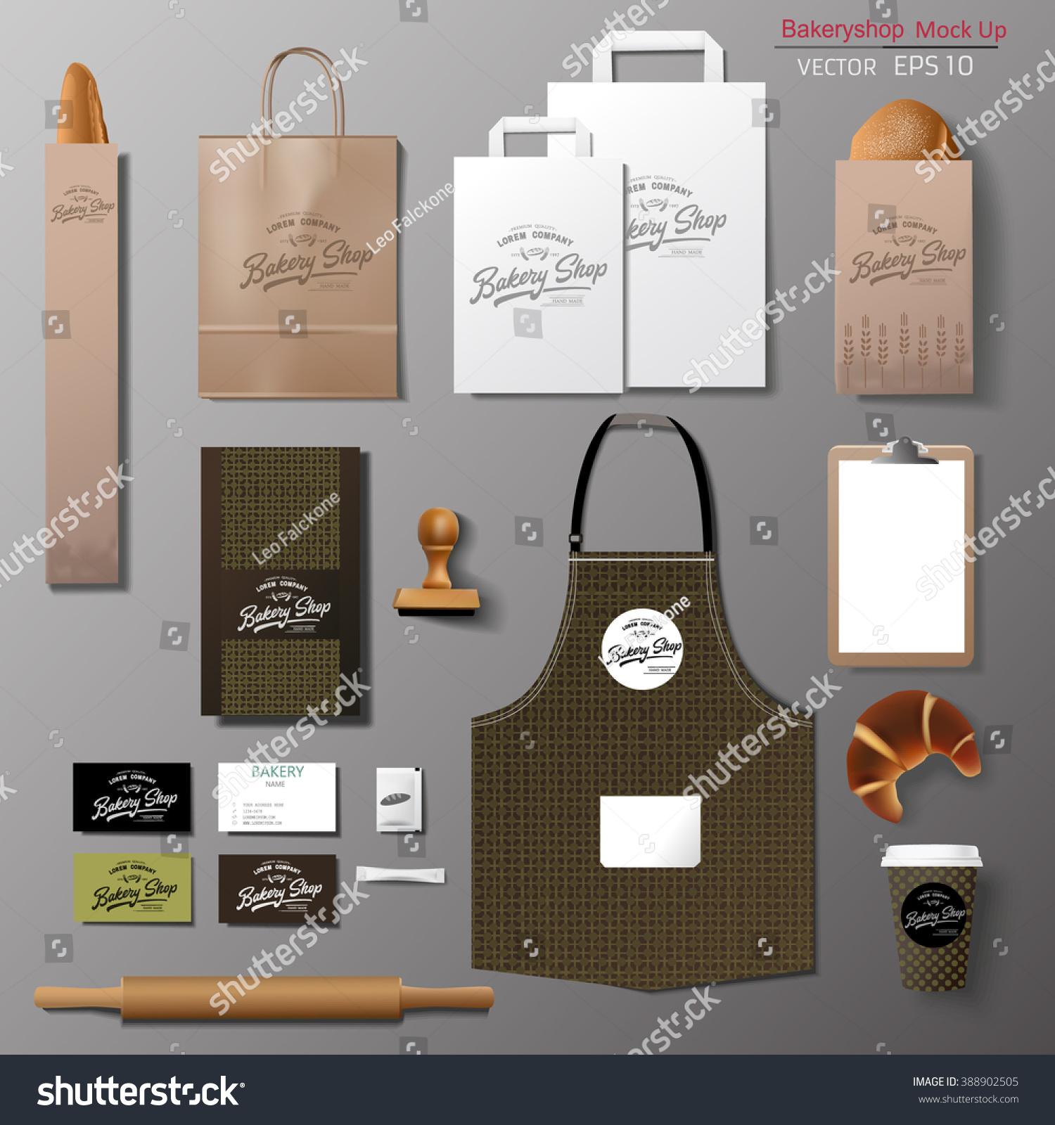 Vector Bakery Corporate Branding Identity Template Stock