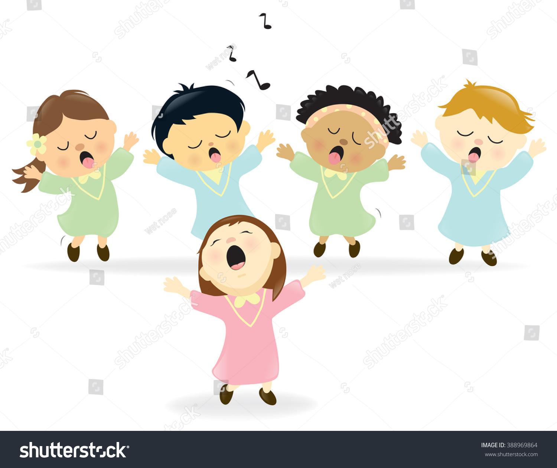 easter choir singing stock vector 388969864   shutterstock