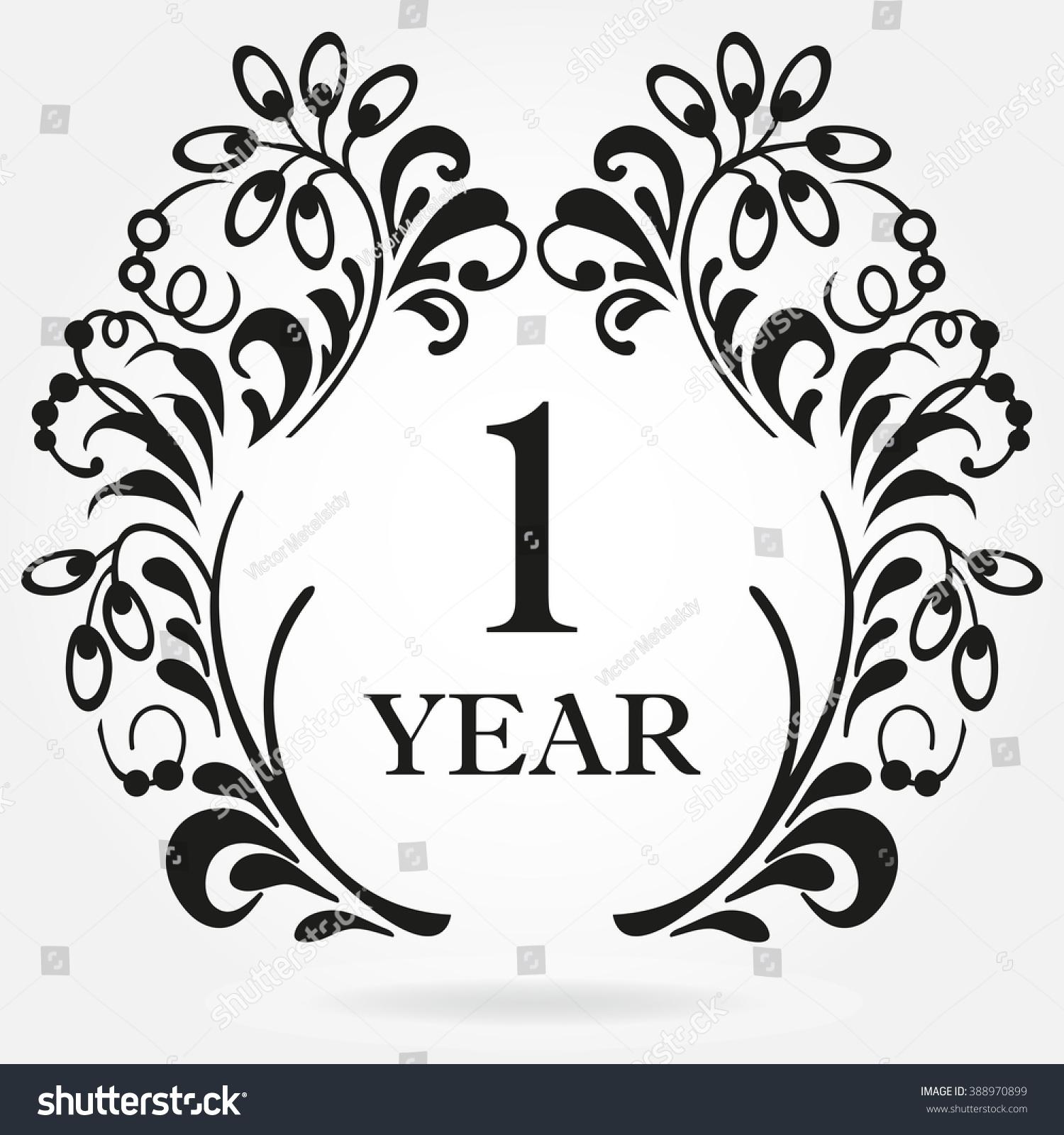 1 Year Anniversary Icon Ornate Frame Stock Illustration 388970899 ...