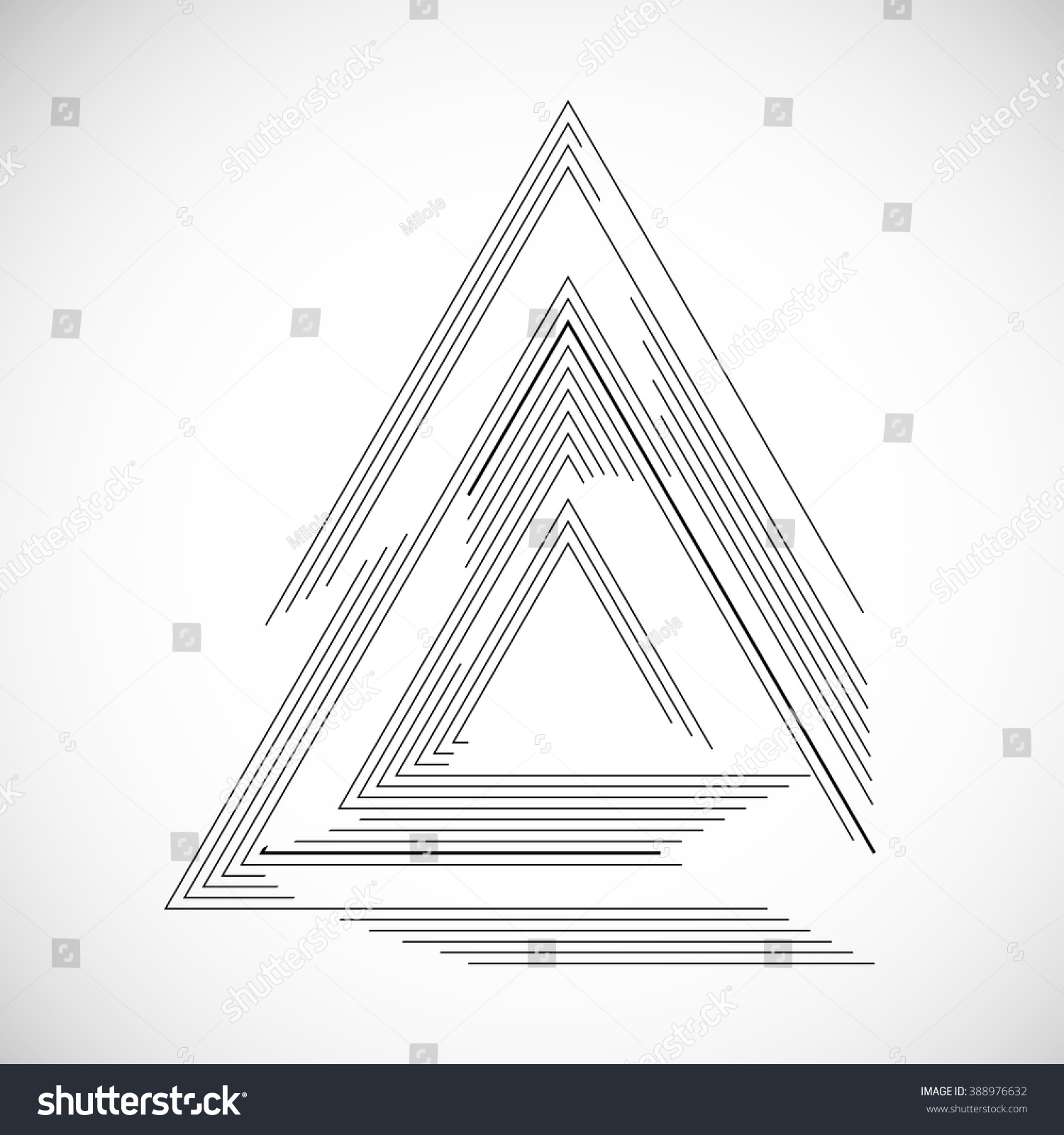 vector frame in triangle form