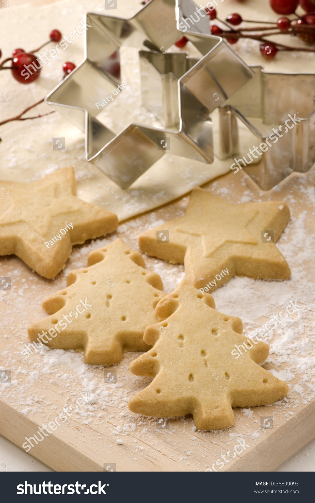 Assorted Christmas Biscuits Homemade Cookies Cookie Stock Photo