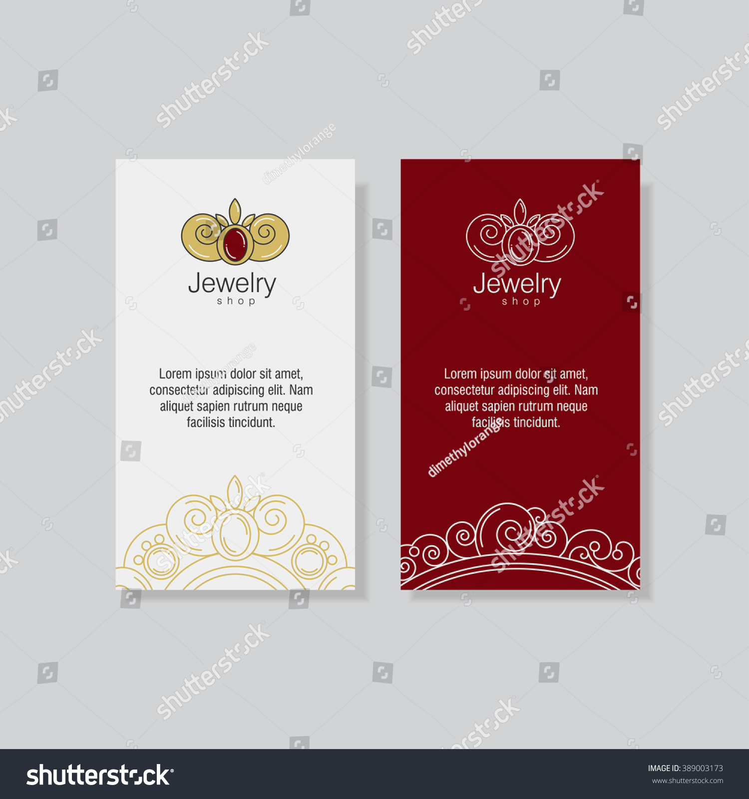 Corporate Identity Business Cards Brochures Jewelry Stock Vector ...