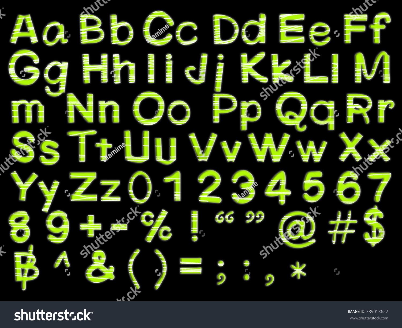 Font Number Green Color Have Pencil Stock Illustration 389013622 ...