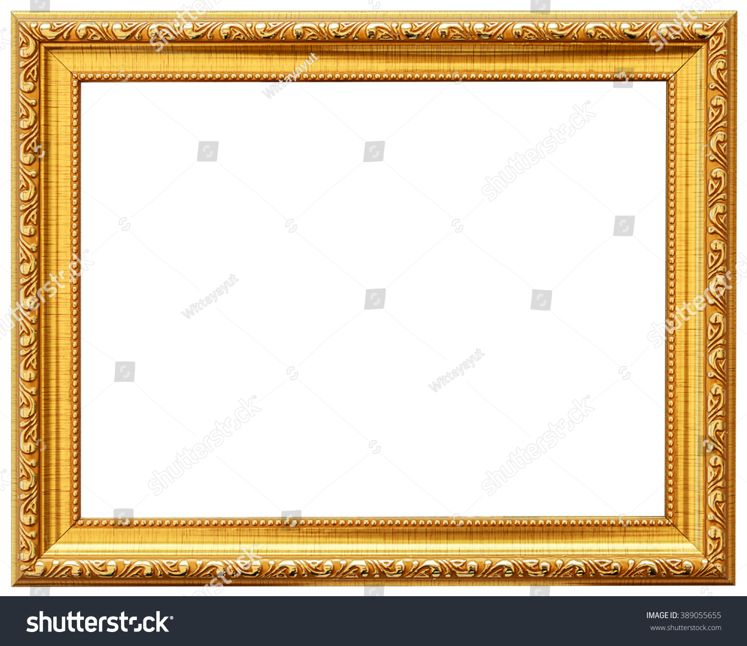 Gold Vintage Frame Isolated On White Stock Photo Edit Now