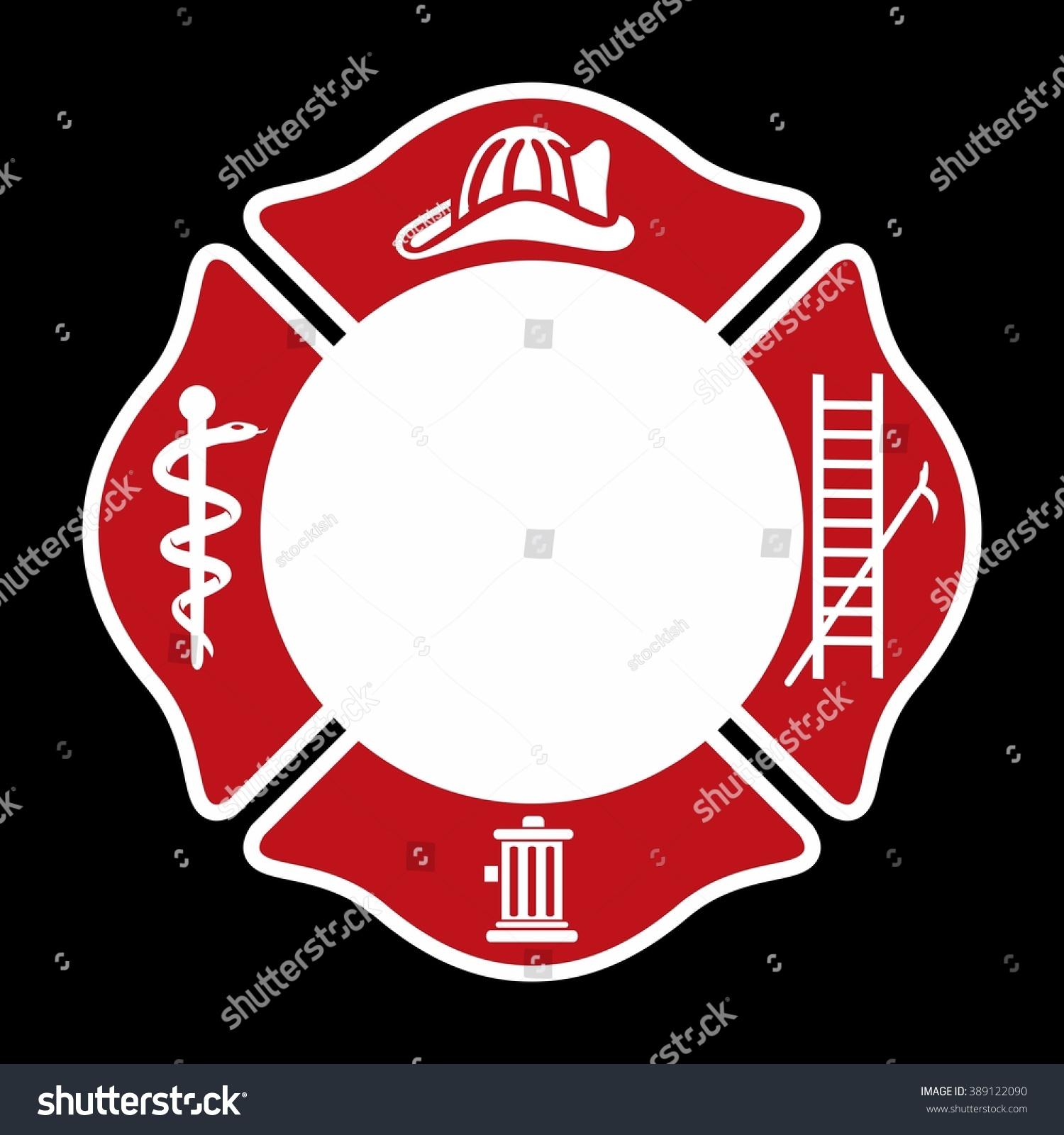 fireman emblem fire department symbol logo stock vector 389122090 shutterstock. Black Bedroom Furniture Sets. Home Design Ideas