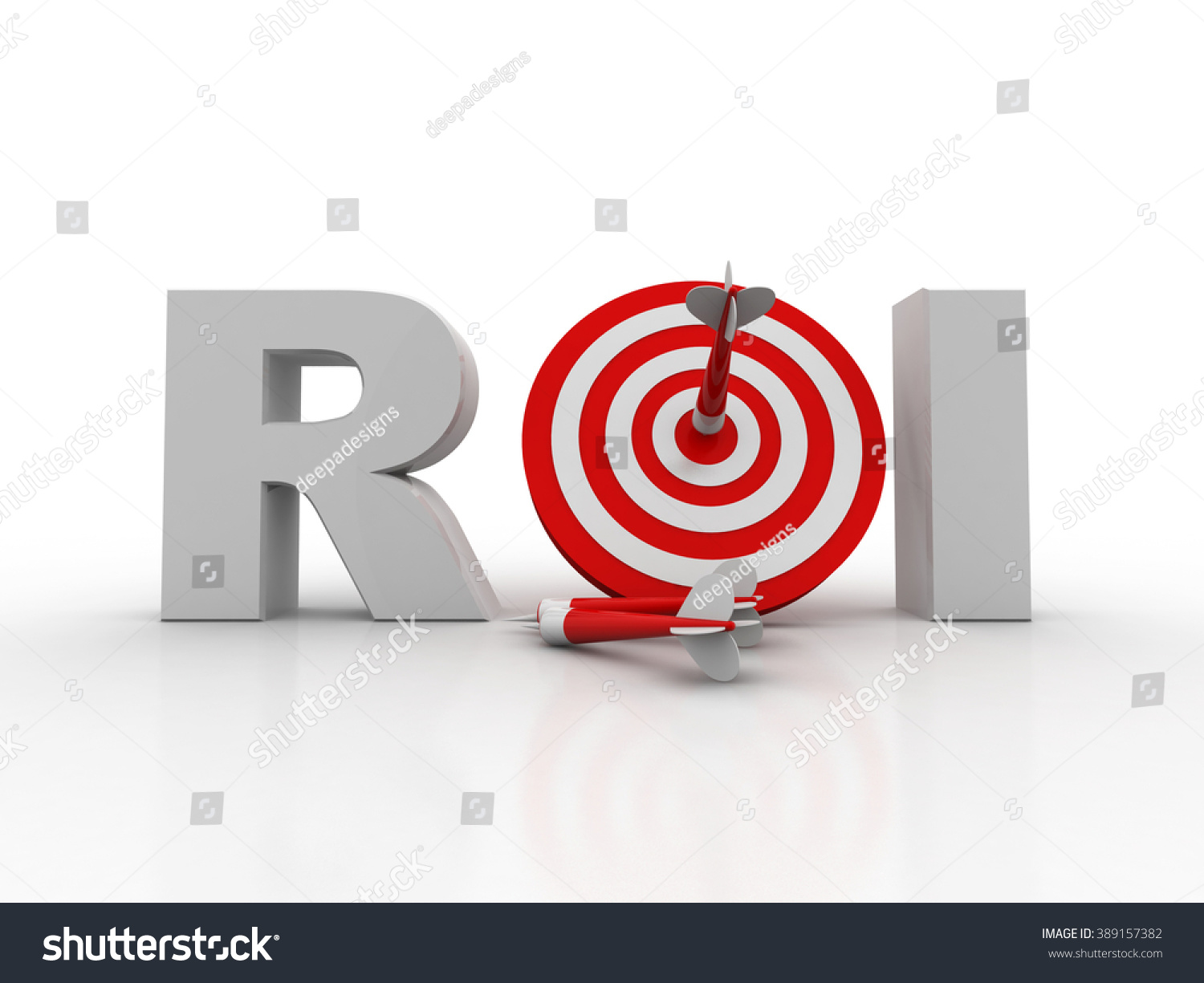 Acronym roi meaning return on investment stock illustration the acronym roi meaning return on investment with an arrow hitting a bulls eye biocorpaavc Images