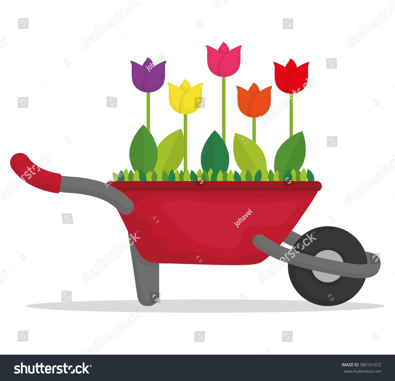 Gardening Icon Design Stock Vector Illustration 389161072