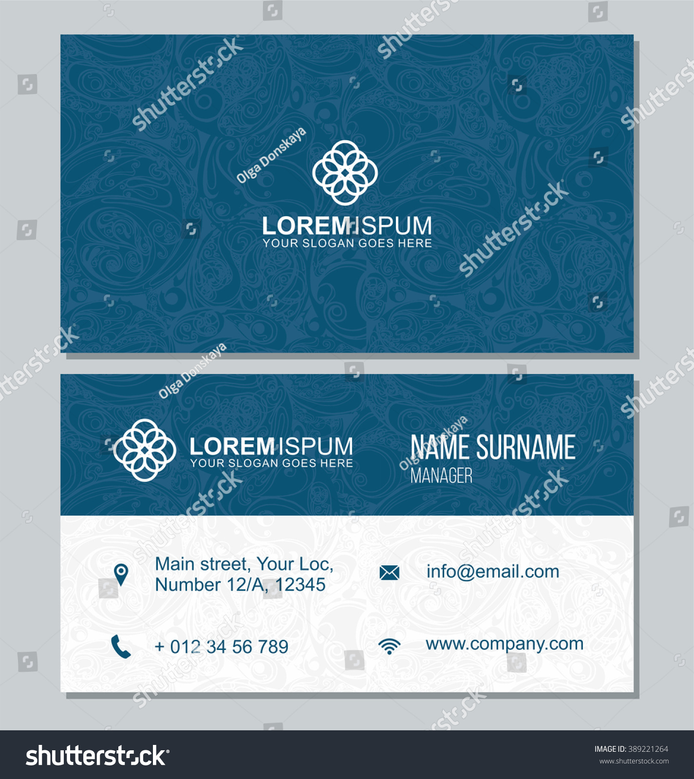 Visiting Card Business Card Abstract Pattern Stock Vector ...